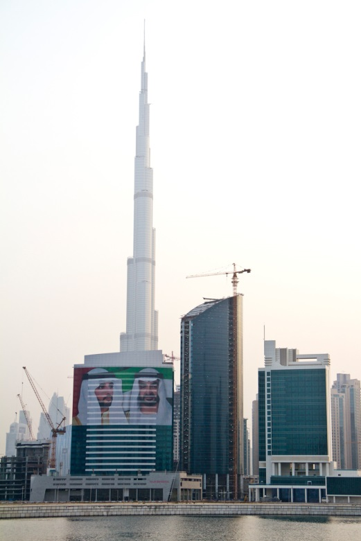 A city skyline in Dubai