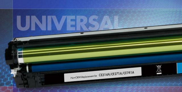 Universal toner cartridges including the CE270, CE340 and CE740