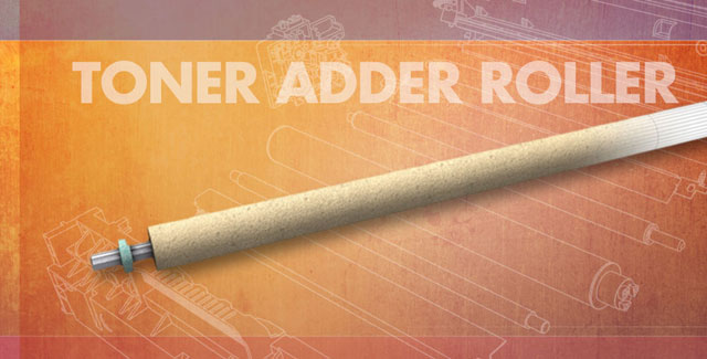The toner adder roller is a key component within a color laser printer.
