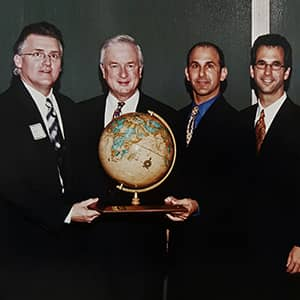Static Control executives receiving the NCEITA Electronic Company of the Year Award and the Governors' International Trade Award