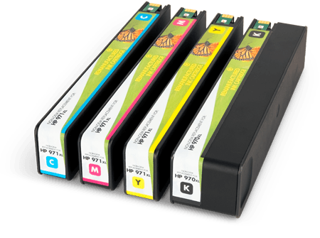 Static Control laser ink cartridges inkjet cartridges for cyan, magenta, yellow, and black