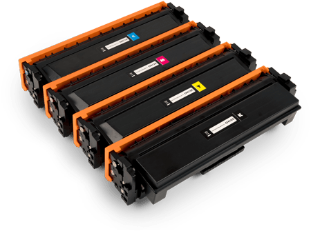 Static Control toner cartridges for cyan, magenta, yellow, and black