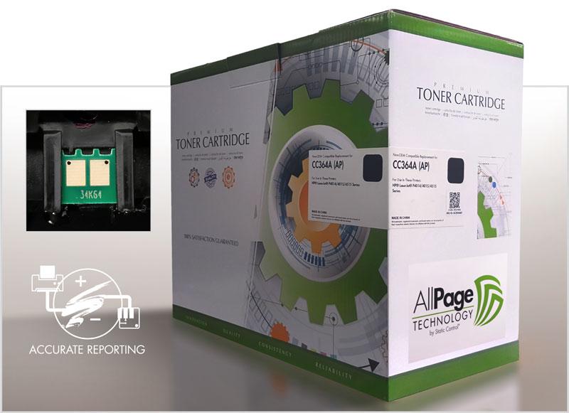 Изображение упаковки с комплектом AllPage, чипа AllPage и точного определения страниц